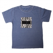 Camiseta Stone Azul Royal Estampa Frontal Zebra Calif