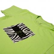 Camiseta Stone Verde Neonl Estampa Frontal Zebra Calif