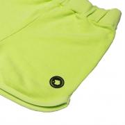Short Moletom Infantil Calif Verde Neon