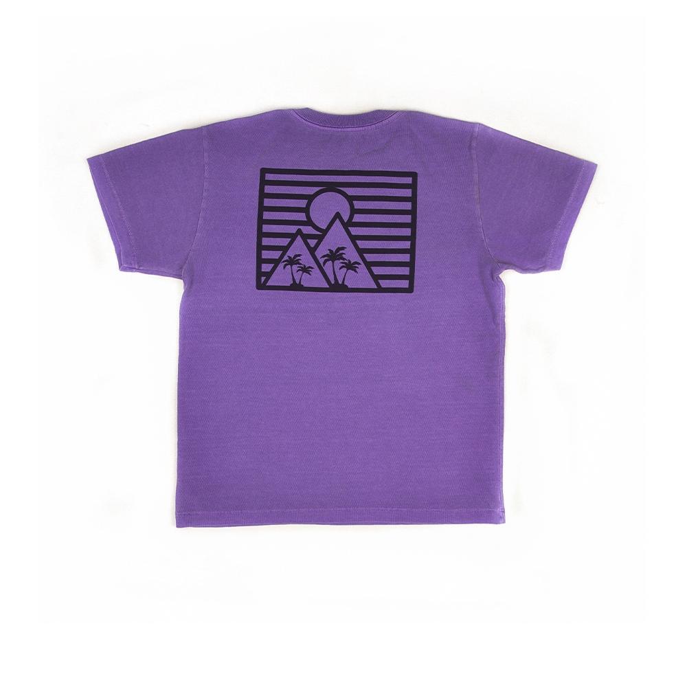 Camiseta Manga Curta Stone Estampa Coqueiros Roxa