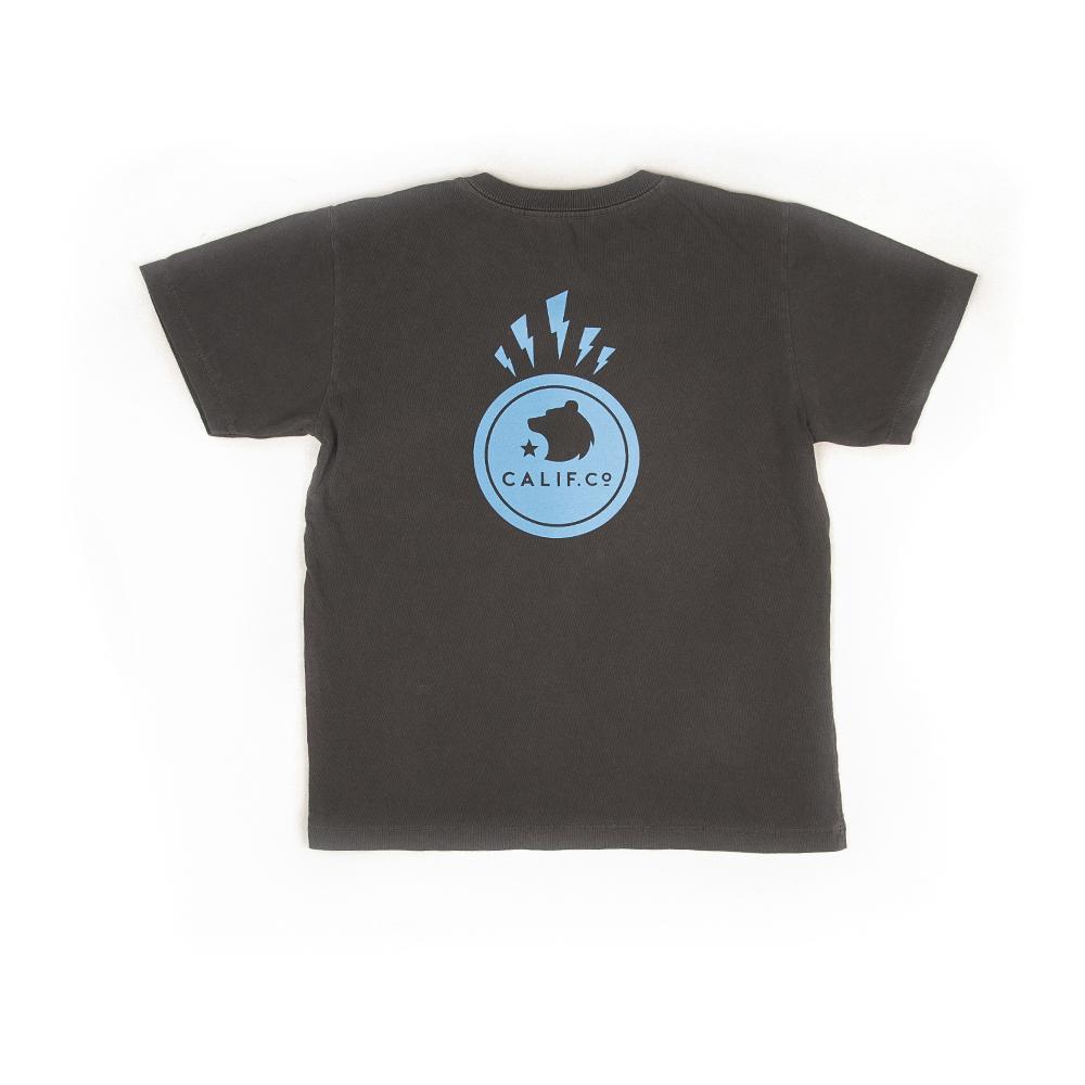 Camiseta Manga Curta Stone Estampa Raio Chumbo
