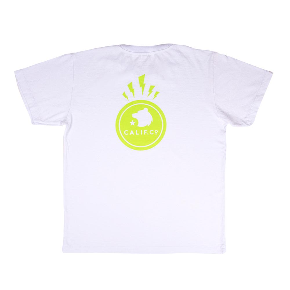 Camiseta Manga Curta Stone Estampa Raios Branca