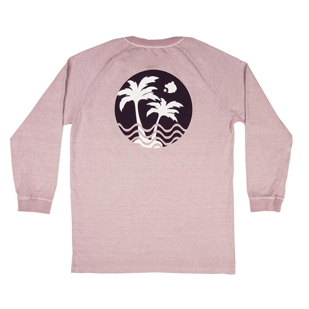 Camiseta Manga Longa Stone Rosa Envelhecido