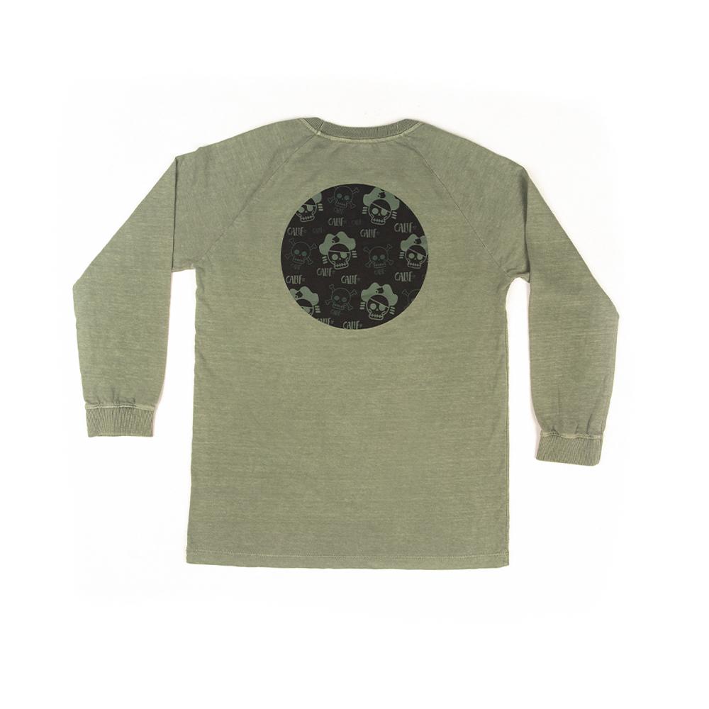 Camiseta Manga Longa Stone Verde Oliva