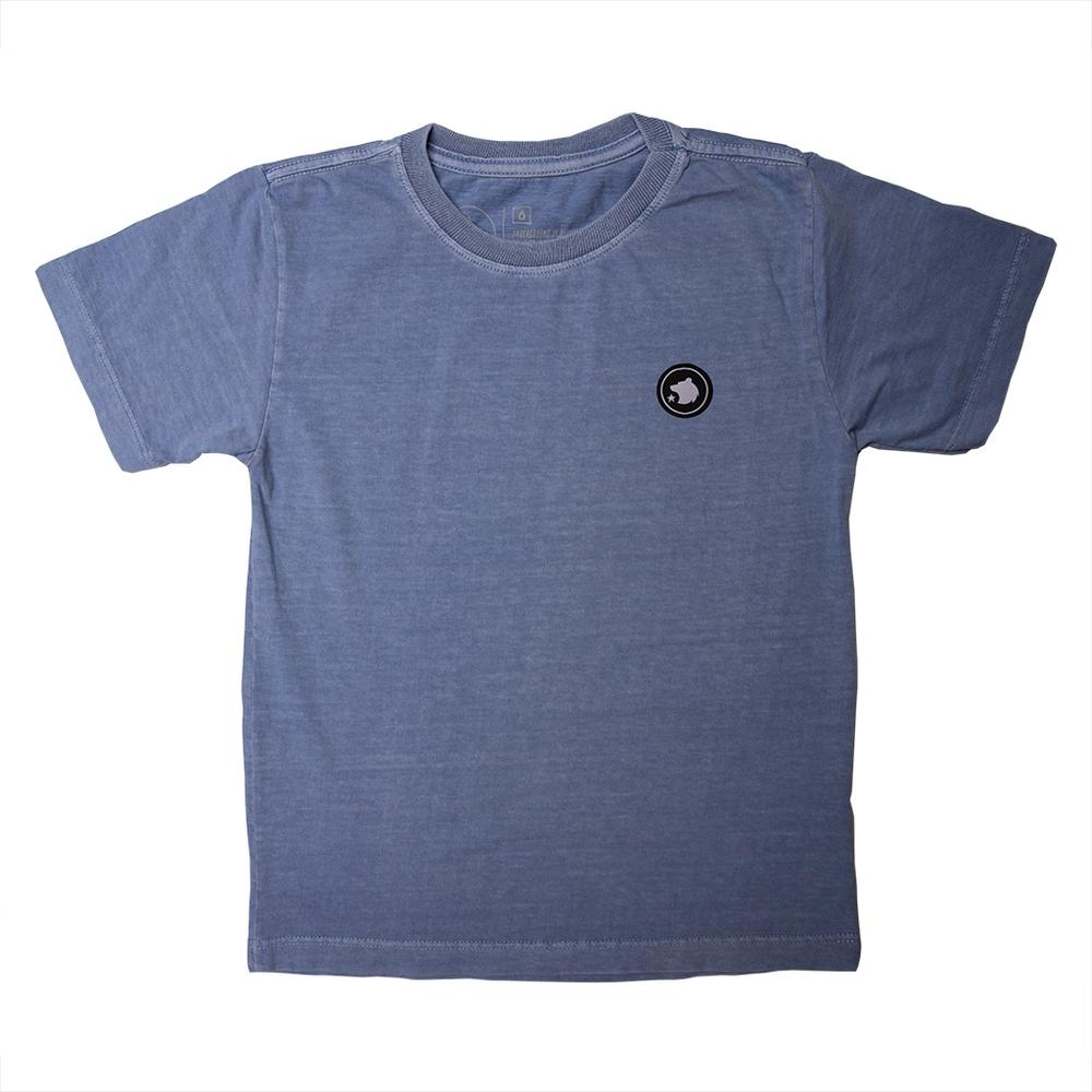 Camiseta Stone Azul Royal Estampa Costas Coqueiro Calif