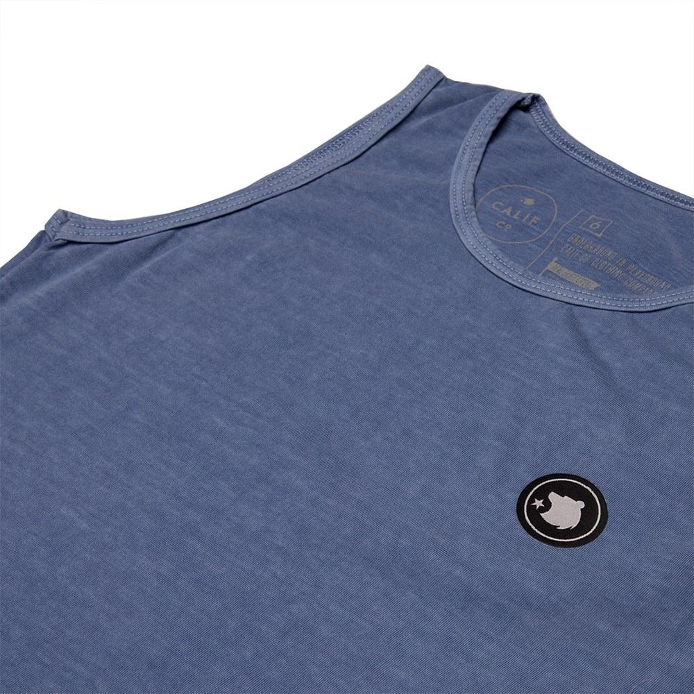 Regata Stone Azul Royal  Aplique Frontal Redondo logo Marca Calif
