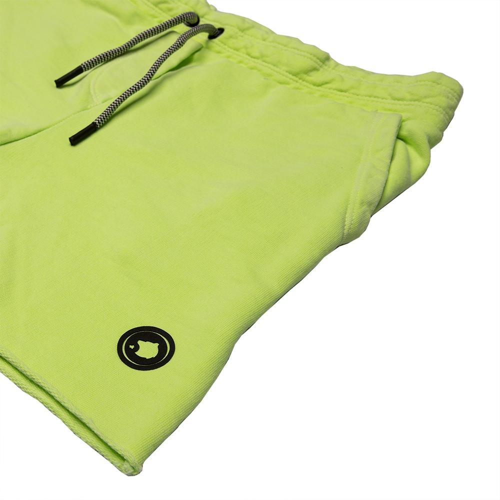 Short Menino Calif Moletom Verde Neon