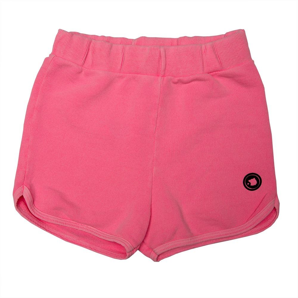 Short Moletom Infantil Calif Cor de rosa