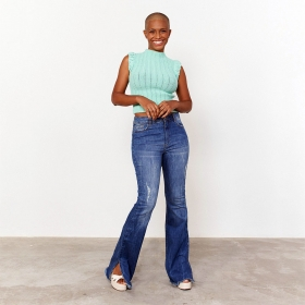 Calça Skinny Plus Size jeans