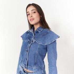 Jaqueta Babados - Jeans