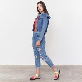 Jaqueta Jeans Babados