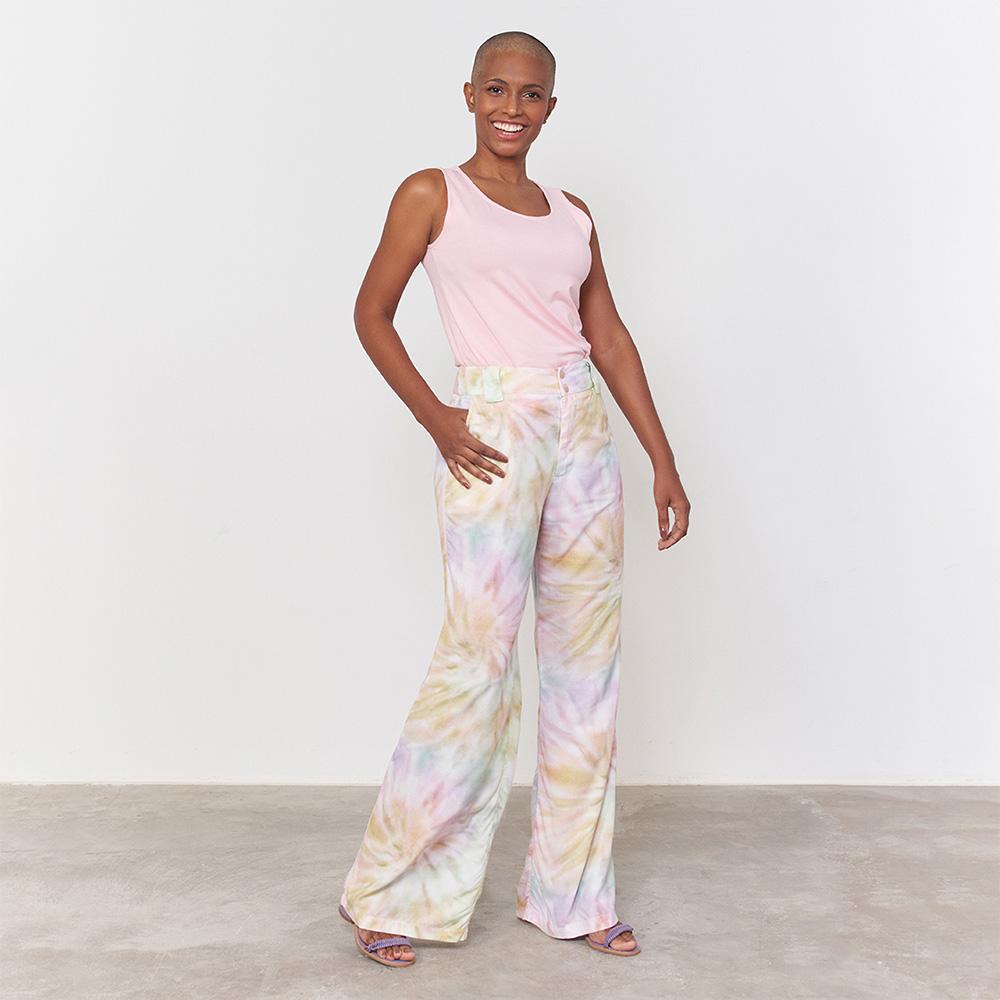 Calça Pantalona Tie Dye