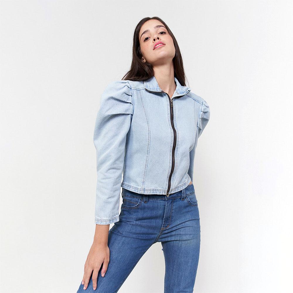 Jaqueta Zíper jeans