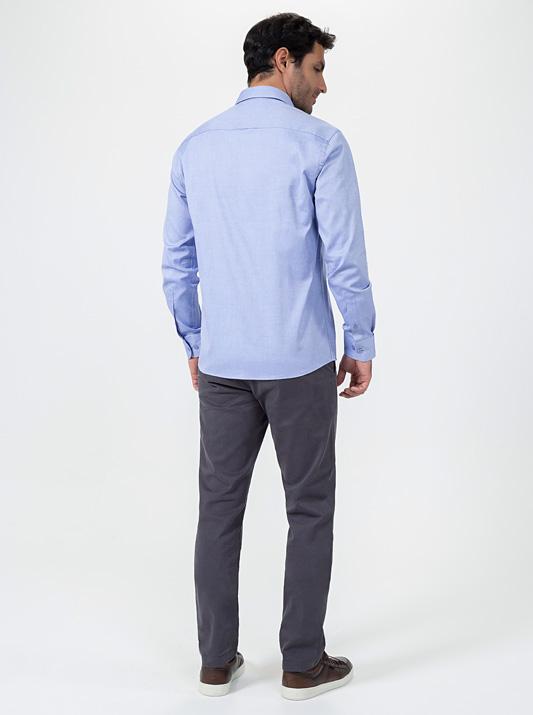 Camisa Pin Point Manga Longa