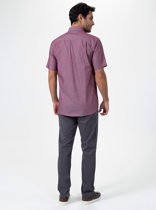 Camisa Platina Manga Curta