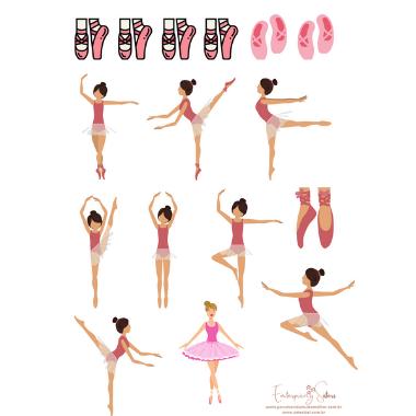 Adesivo para planner Ballet - Estrelari