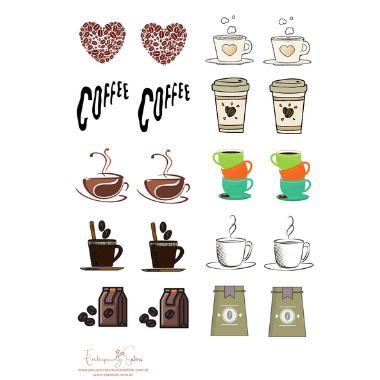 Adesivo para planner Coffee - Estrelari