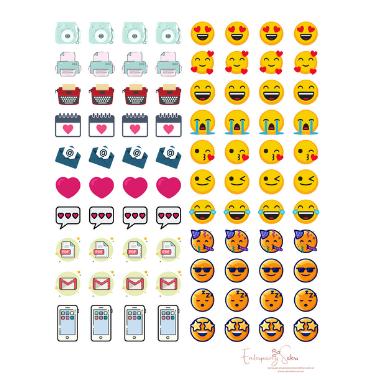 Adesivo para planner Emoji - Estrelari