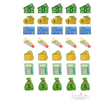 Adesivo para planner Financeiro - Estrelari