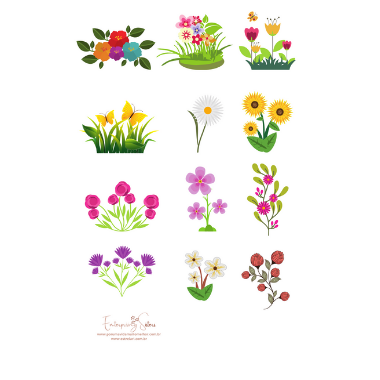 Adesivo para planner Flores - Estrelari
