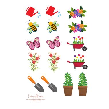 Adesivo para planner Jardinagem - Estrelari