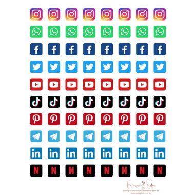 Adesivo para planner Social Media - Estrelari