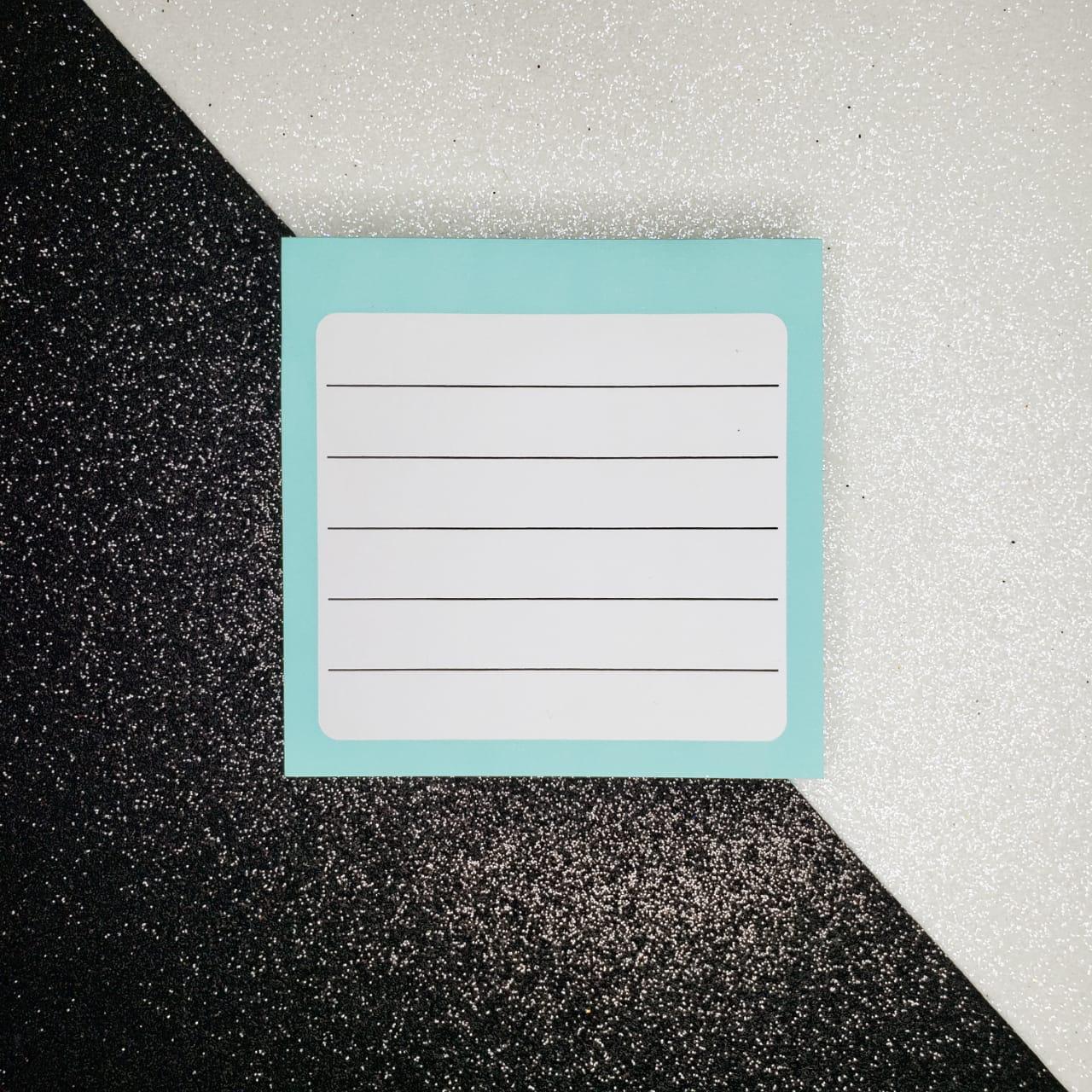 Bloco de Notas pautado Azul