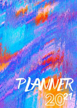 Capa para Planner Blue Orange
