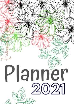 Capa para Planner Flowers 3