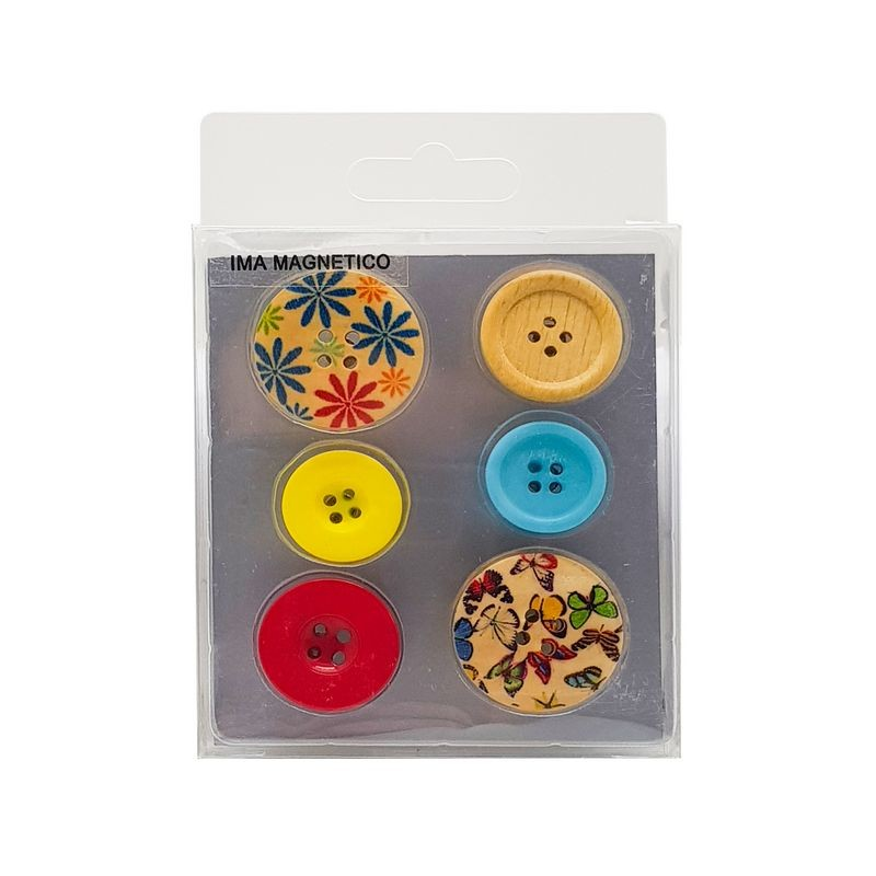 Imã botão decorado