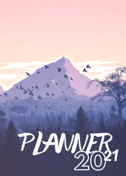 Planner Estrelari 2021 Pink Mountain