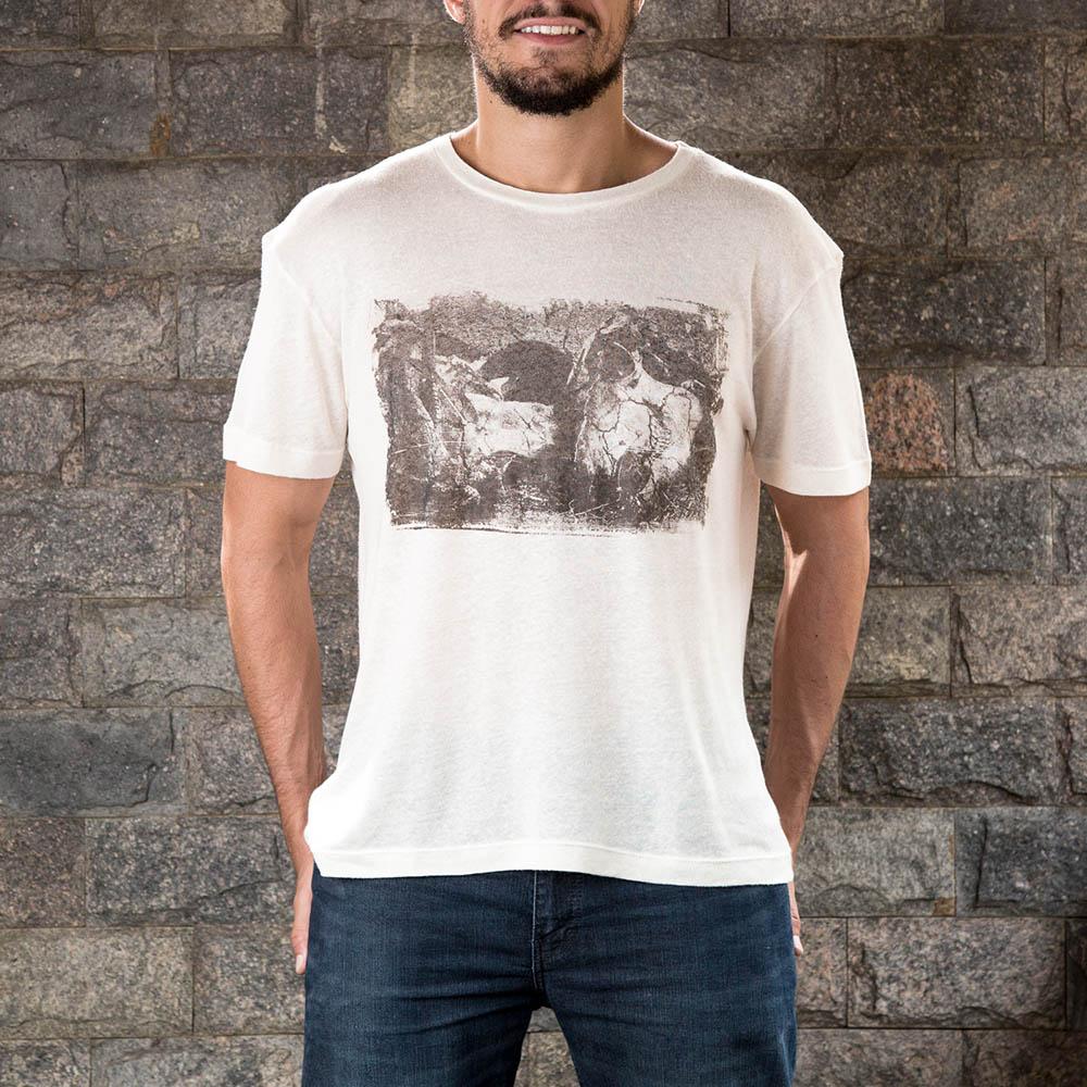 Camiseta Ossada Bege