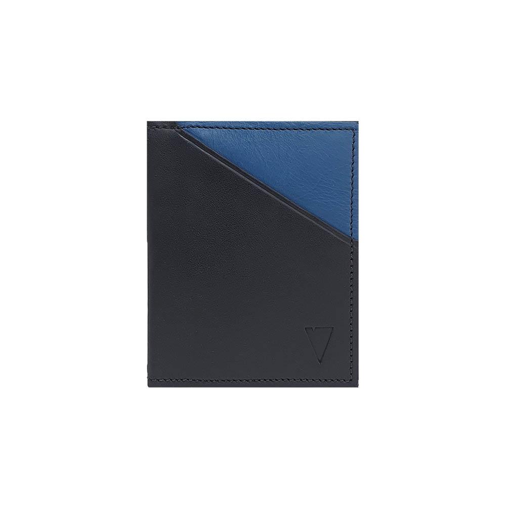 Carteira Pocket Preta e Azul - Antifurto (Tamanho RG)