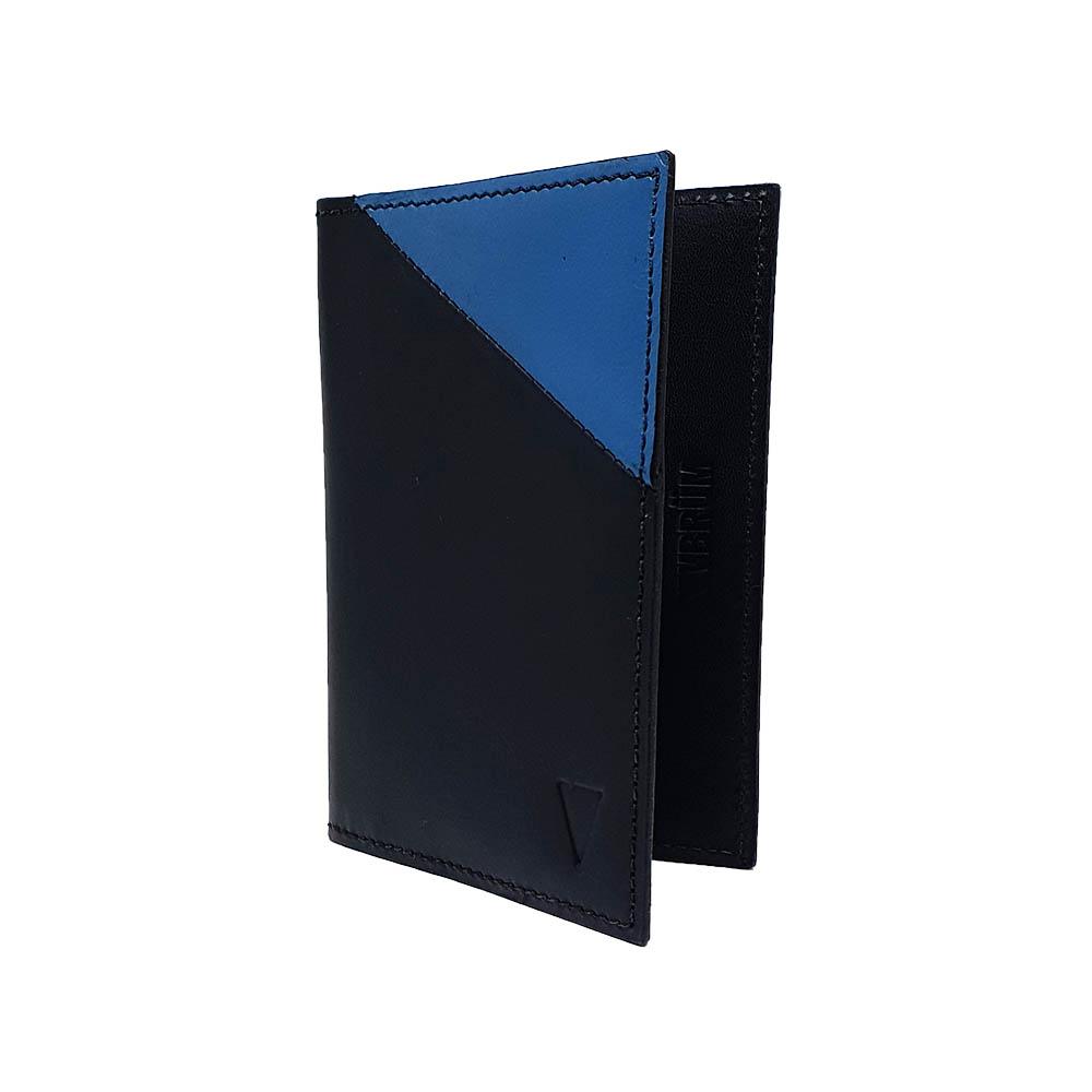 Carteira Ultra Vbrüm Preta e Azul (tamanho para RG)