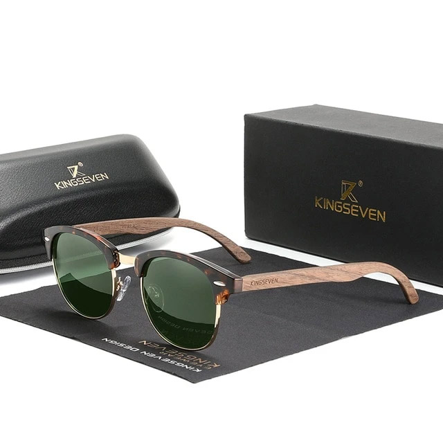 Óculos de Sol Clubmaster Clássico 2022 - 100% Polarizado / Uv400