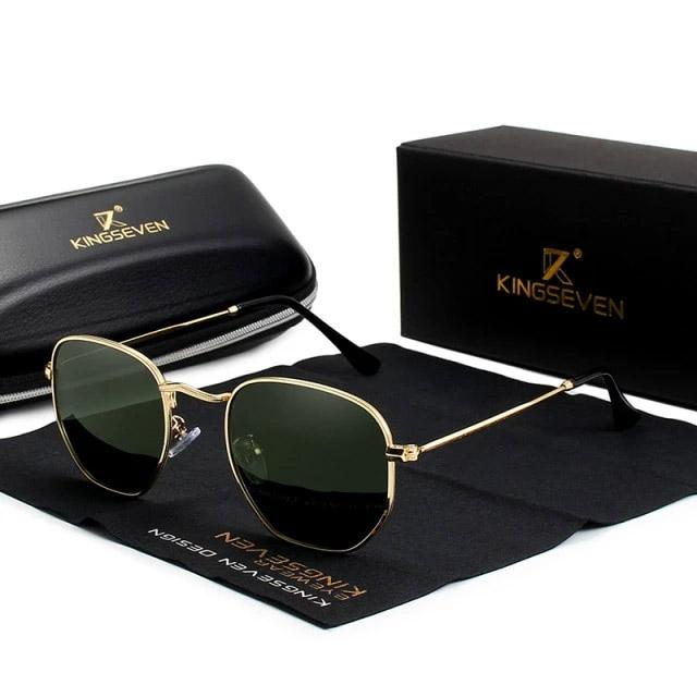 Óculos de Sol Hexagonal Flat 2022 - 100% Polarizado / Uv400