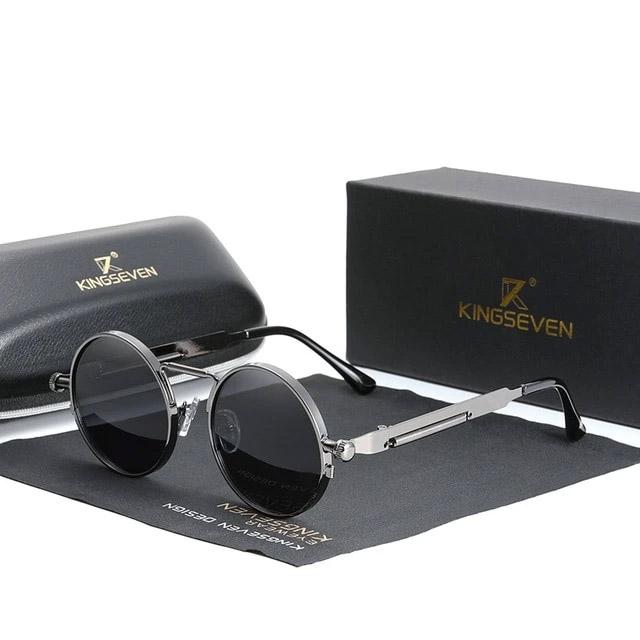 Óculos de Sol Redondo Retrô 2022 - 100% Polarizado / Uv400