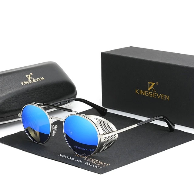 Óculos de Sol Steampunk 2022 - 100% Polarizado / Uv400