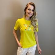 Blusa estamp. positivity Amarelo -