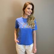 Blusa estamp. positivity Azul -