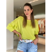 Blusa Juliana canoa modal Verde Lima -