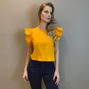 Blusa mg camadas Giulia Laranja -