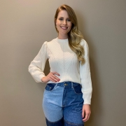 Blusa trico trama Off White -