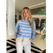 Blusa tricot bicolor Azul -