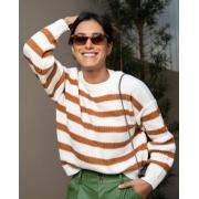 Blusa tricot bicolor Caramelo -