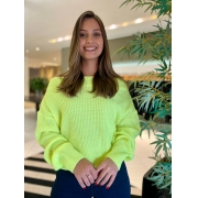 Blusa tricot m/l Amarelo -