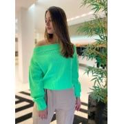 Blusa tricot m/l Verde -