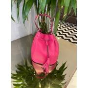 Bolsa de couro saquinho Rosa -