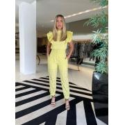 Calça afunilada de lasie Amarelo Canario -