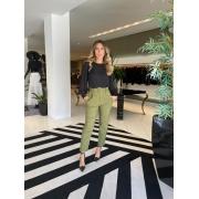 Calça barra italiana nc span Verde -